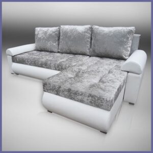 Corner Sofa Bed in luxurious velvet like fabric - VELVET