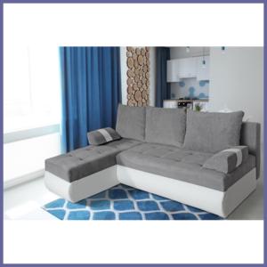 Comfortable and Top quality corner sofa – GINO (White)